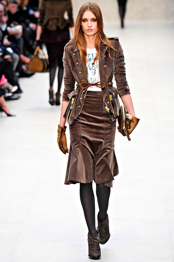 London fashion week, fashion shows, catwalk, fall winter 2012, Burberry