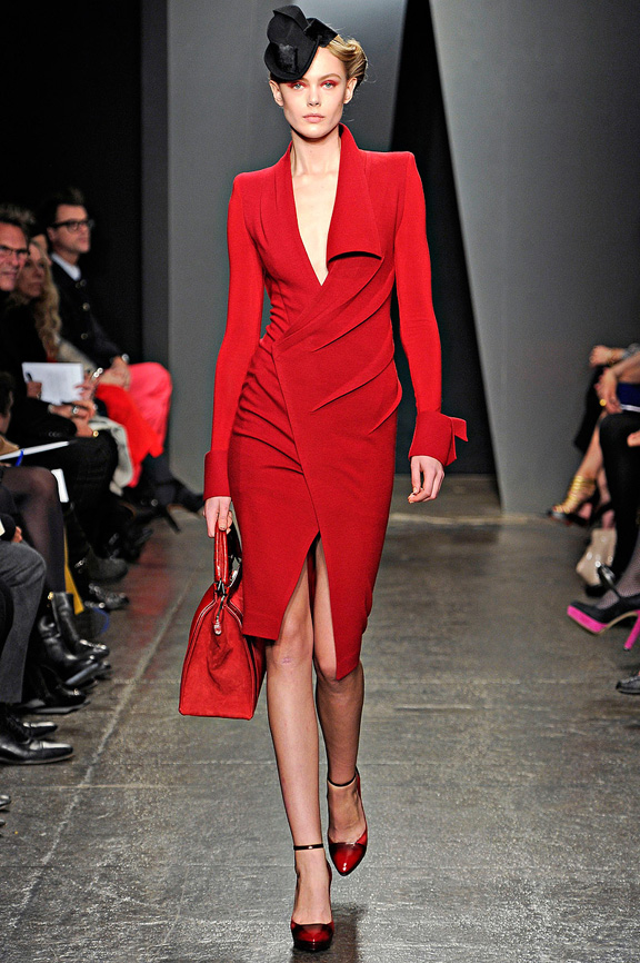 New York Fashion Week Shows Catwalk Fall Winter 2017 Donna Karan A Beautifully D Red Wrap Dress