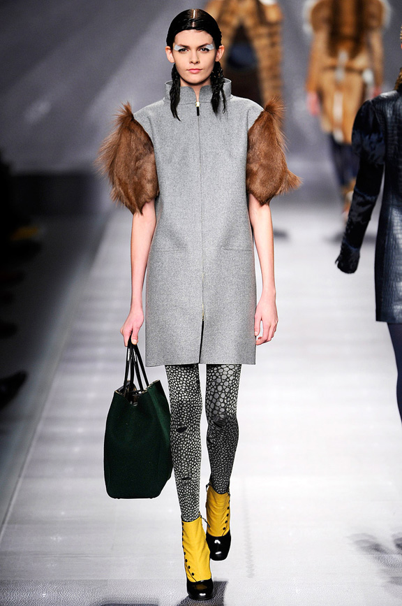 Milan fashion week, fashion shows, catwalk, fall winter 2012, Fendi, Karl Lagerfeld
