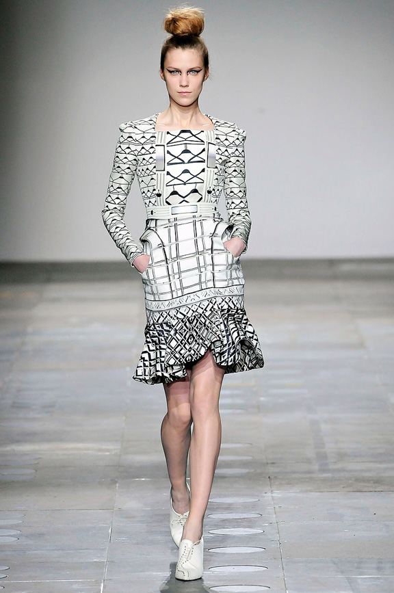 London fashion week, fashion shows, catwalk, fall winter 2012, Mary Katrantzou