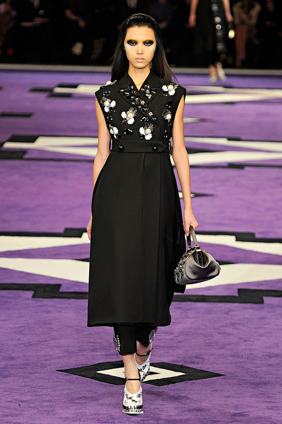 Milan fashion week, fashion shows, catwalk, fall winter 2012, Prada