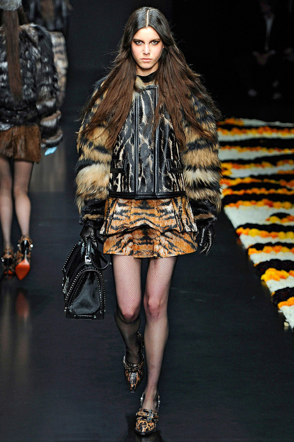 Milan fashion week, fashion shows, catwalk, fall winter 2012, roberto cavalli