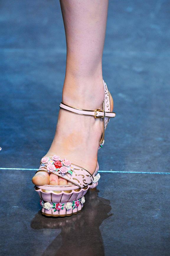 catwalk, runway, amazing shoes, Milan, fall winter 2012, dolce gabbana