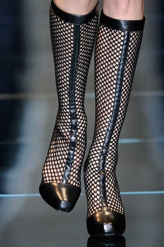 catwalk, runway, amazing shoes, Milan, fall winter 2012, Versace
