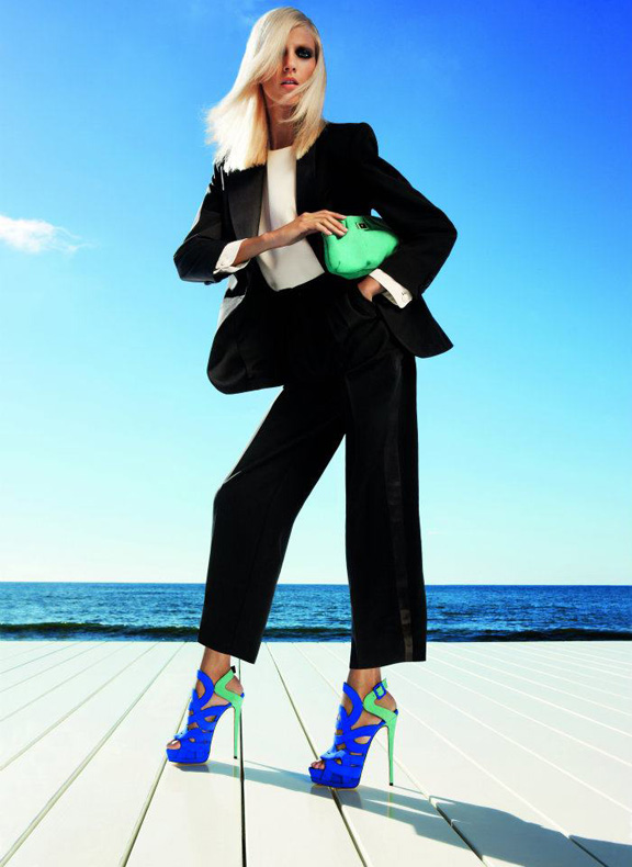 sring summer advertising campaigns, anja rubik, inez and vinnodh, guiseppe zanotti