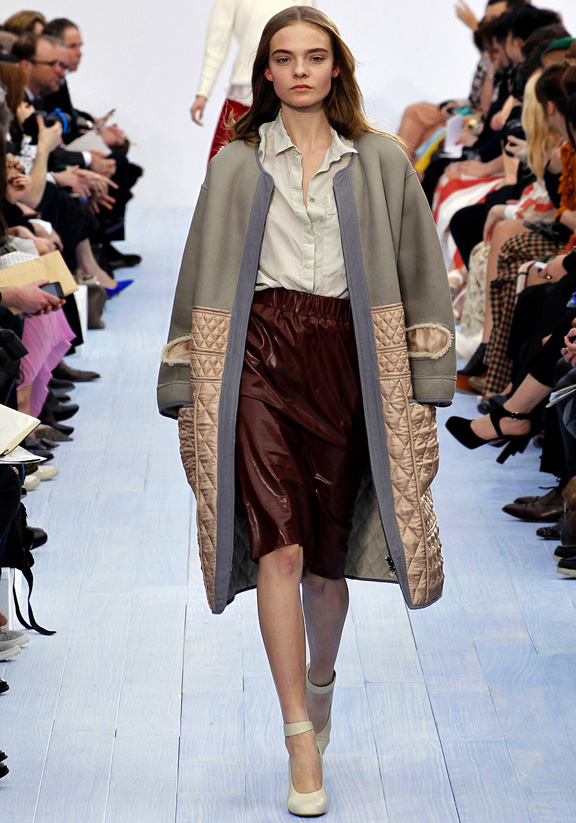 Paris fashion week, fashion shows, catwalk, fall winter 2012, Clare Waight Keller, Chloe