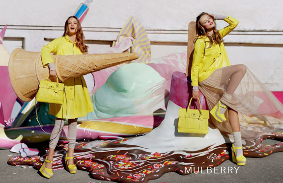 spring summer advertising campaigns, tim walker, mulberry, lindsey wixson