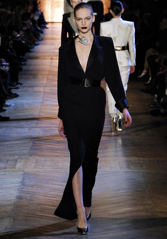 Paris fashion week, fashion shows, catwalk, fall winter 2012, Yves Saint Laurent, Stefano Pilati