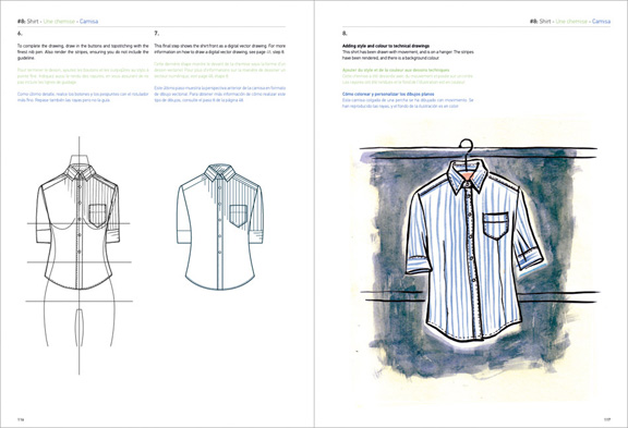 Technical Drawing for fashion, fashion illustration, books, how to, flat drawings
