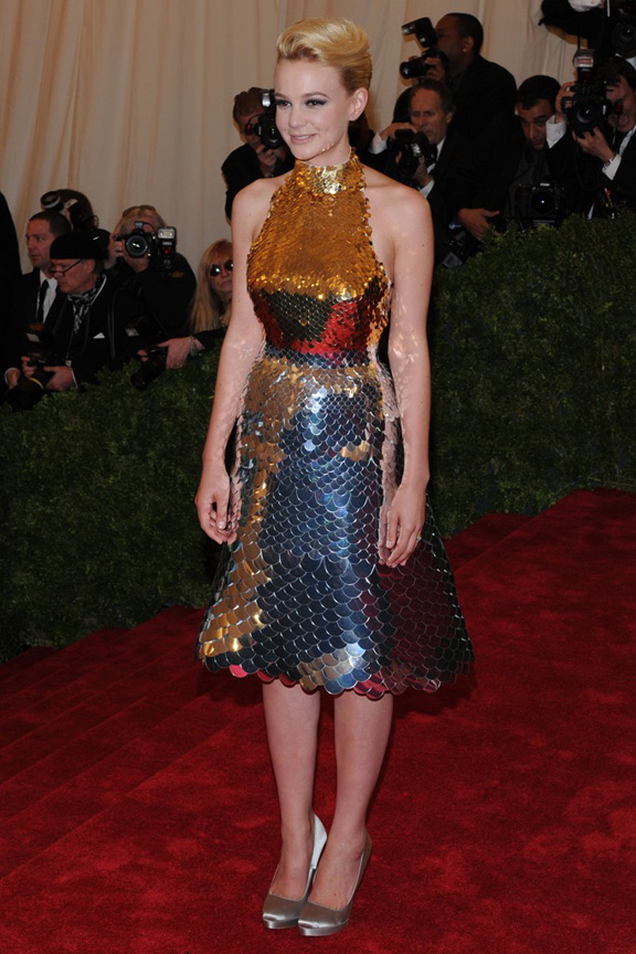 Met ball, fashion, celebrities, red carpet, evening wear, carey mulligan