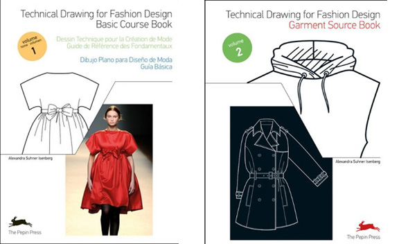 technical drawing for fashion, flats, fashion illustration, books