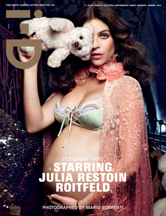carine roitfeld, julia restoin-roitfeld, i-D magazine, magazine covers, fashion photography