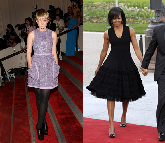 celebrities, red carpet, fashion advice column, carey mulligan, michelle obama