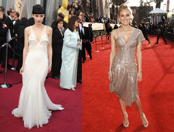 celebrity fashion, red carpet, fashion advice column, rooney mara, diane kruger