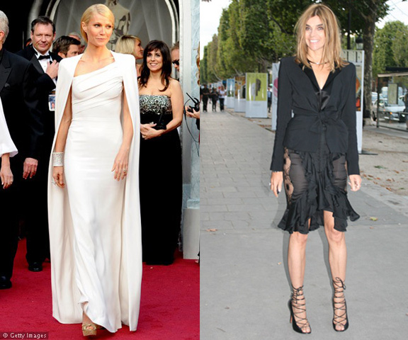 celebrity fashion, red carpet, fashion advice column, gwyneth palttrow, carine roitfeld
