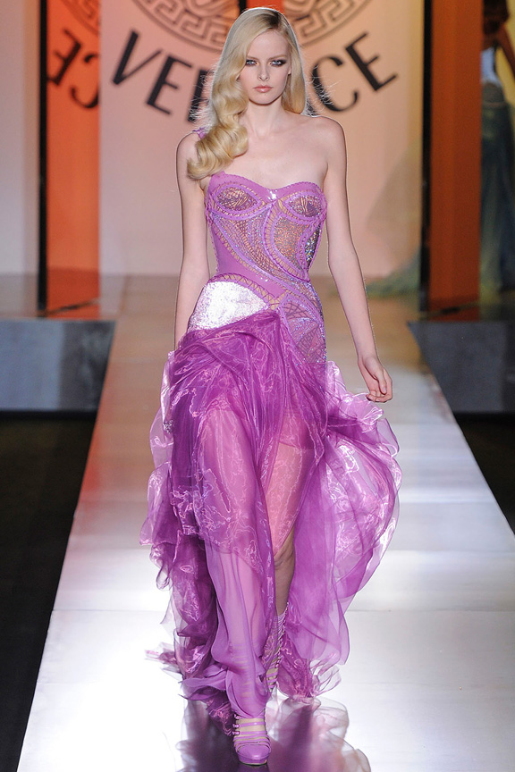 atelier versace, haute couture, runway, catwalk show, fall winter 2012