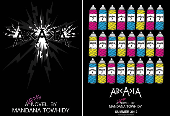 arcadia, books, heavy metal, hollywood, mandana towhidy