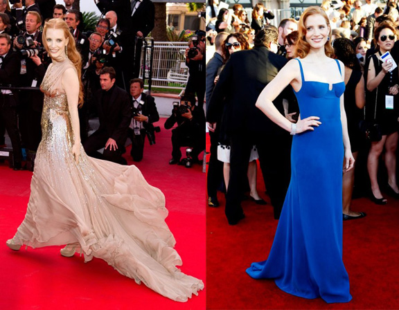 vanity fair, international best dressed list, 2012, celebrity fashion, jessica chastain