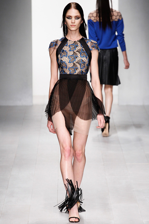 London, catwalk, runway show, spring summer 2013, Marios Schwab