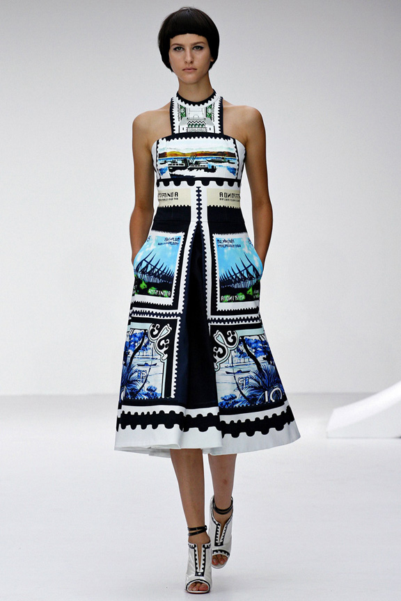 London, catwalk, runway show, spring summer 2013, Mary Katrantzou