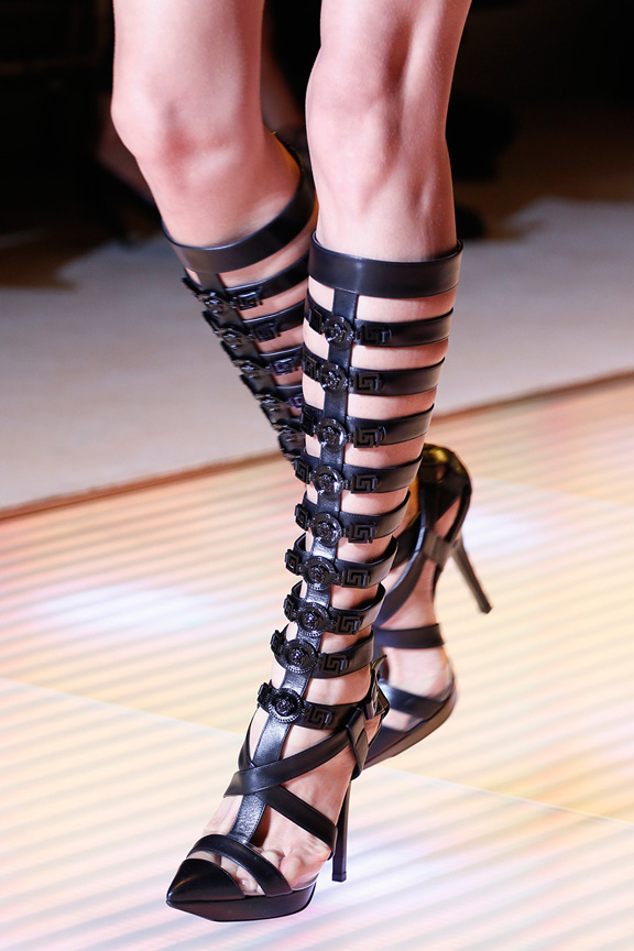 Milan, catwalk, runway show, spring summer 2013, shoes, versace