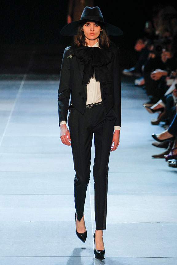 Paris, catwalk, runway show, review, critic, spring summer 2013, hedi slimane, yves saint laurent