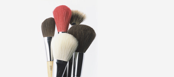 she uemura, makeup, brushes, accessories, beauty brief