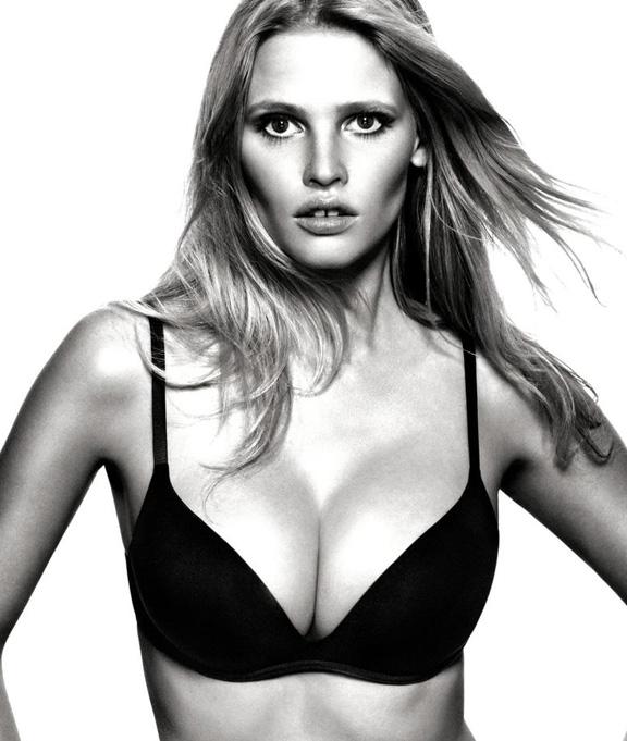 calvin klein, lingerie, lara stone, push positive bra, push up bra
