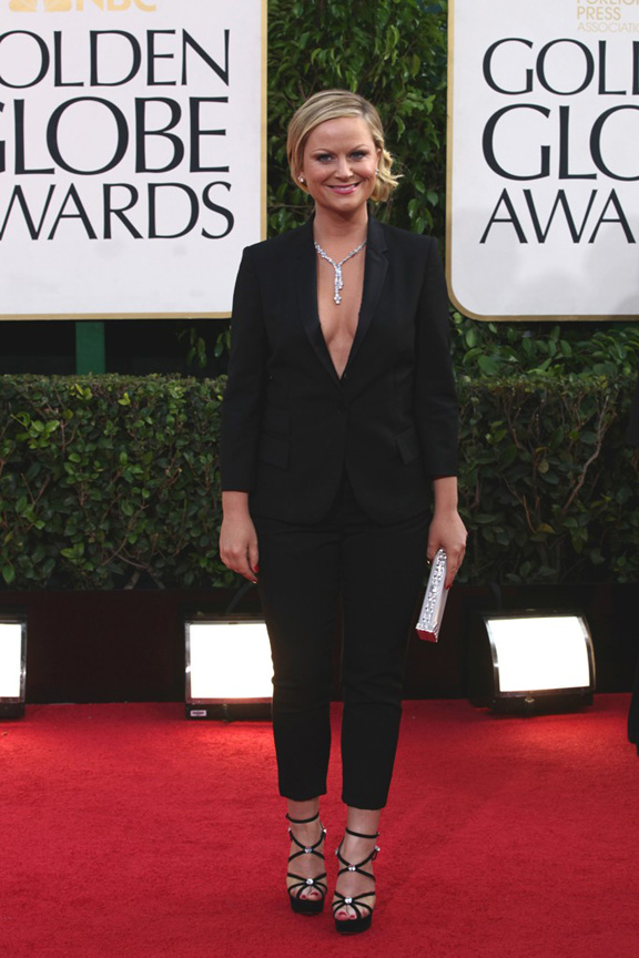 Golden Globes, celebrities, red carpet fashion, amy poehler, stella mccartney