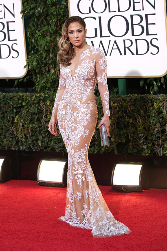 Golden Globes, celebrities, red carpet fashion, jennifer lopez, zuhair muhad