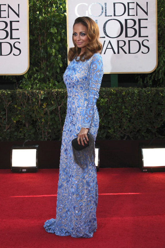 Nicole Ritchie in Naeem Khan. She looks OLD.