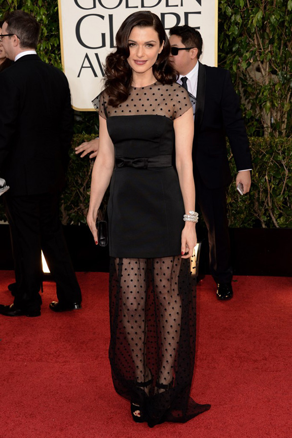 Golden Globes, celebrities, red carpet fashion, rachel Weisz, louis vuitton