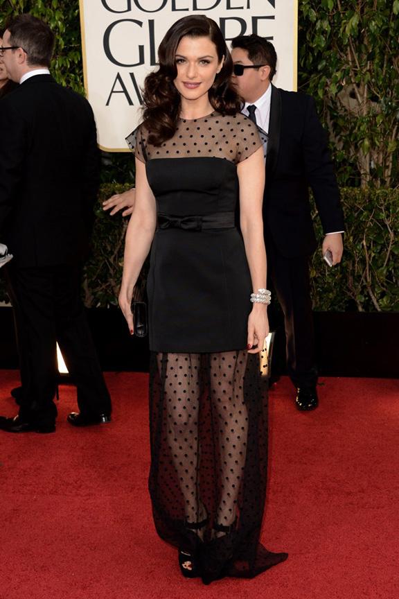 Golden Globes, celebrities, red carpet fashion, rachel Weisz, louis vuitton