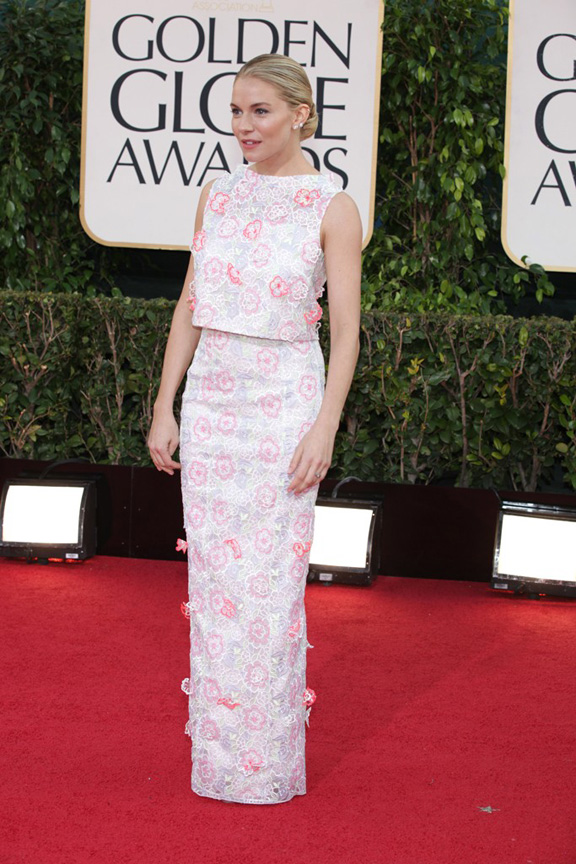 Golden Globes, celebrities, red carpet fashion, sinenna miller, erdem