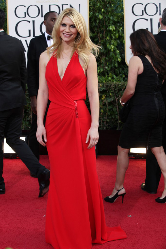 Golden Globes, celebrities, red carpet fashion, claire danes, versace