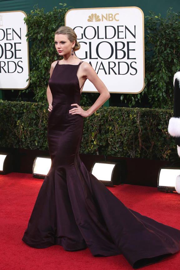 Golden Globes, celebrities, red carpet fashion, taylor swift, donna karan