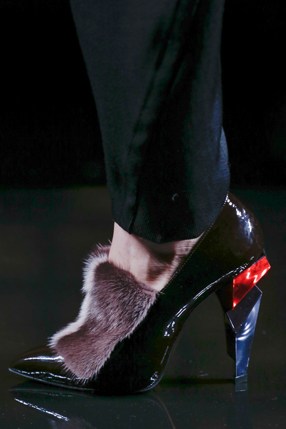 Milan, catwalk, runway show, review, critic, fall winter 2013, shoes, fendi