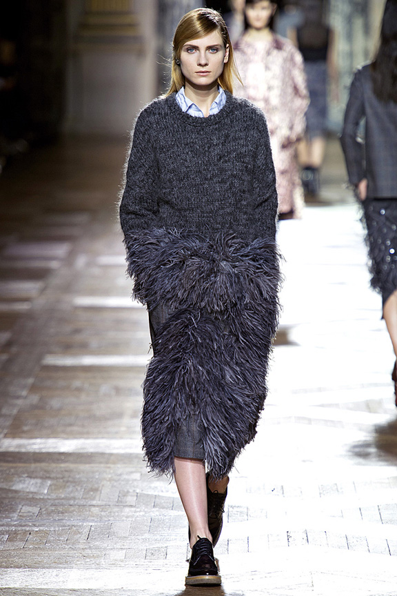 Paris, catwalk, runway show, review, critic, fall winter 2013, dries van noten