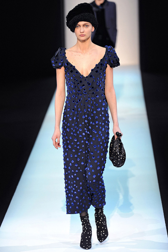 Milan, catwalk, runway show, review, critic, fall winter 2013, giorgio armani