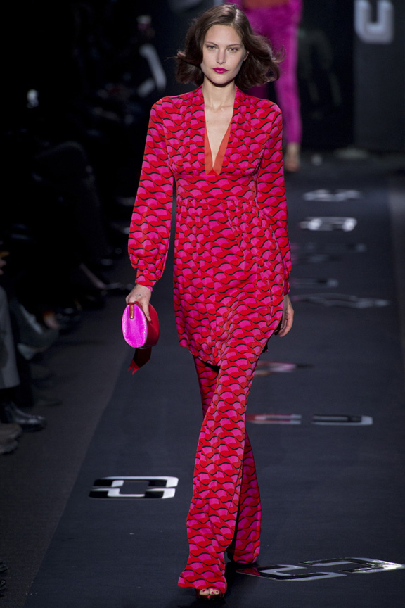 New York, catwalk, runway show, review, critic, fall winter 2013, diane von furstenberg