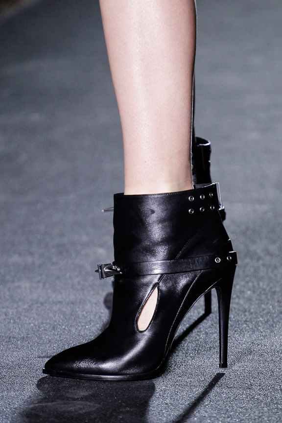 Paris, catwalk, runway show, review, critic, fall winter 2013, shoes, anthony vaccarello