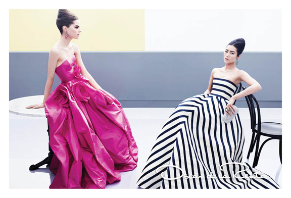 fashion magazines, fashion photography, ad campaign, advertising, oscar de la renta
