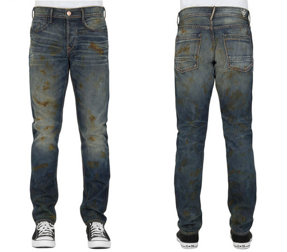 earnest sewn, jeans, distressed, premium denim, ripped jeans