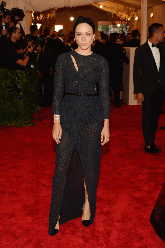 met gala, ball, red carpet, celebrities, evening wear, chloe sevigny, proenza schouler