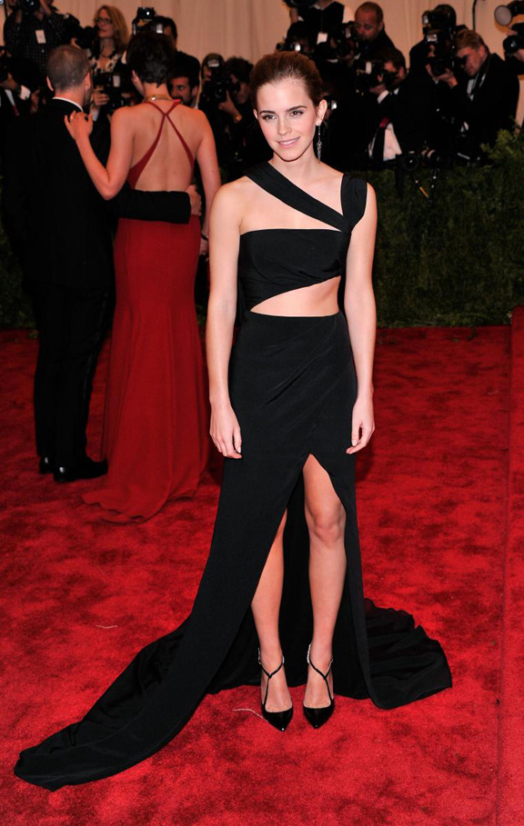 met gala, ball, red carpet, celebrities, evening wear, emma watson, prabal guring