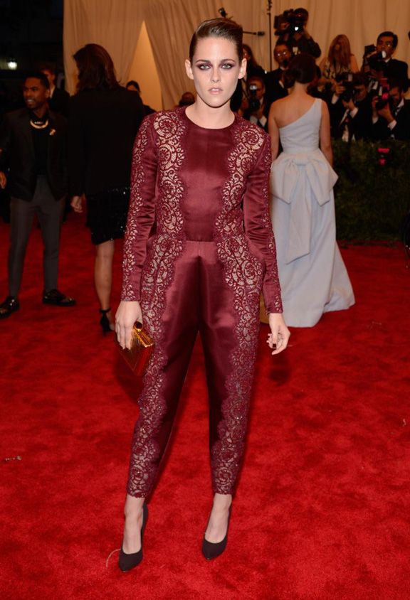 met gala, ball, red carpet, celebrities, evening wear, kristen stewart, stella mccartney