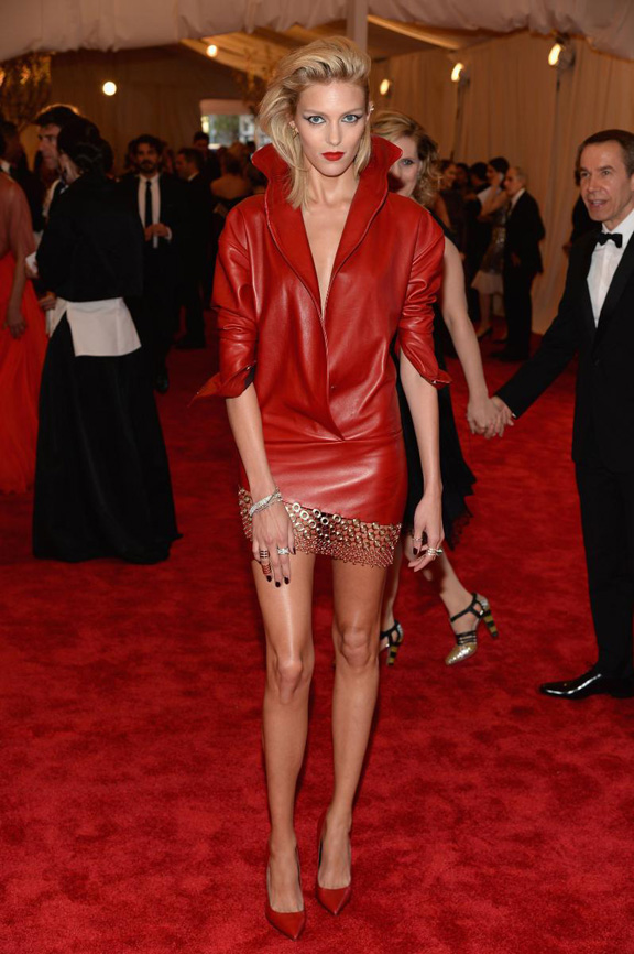 met gala, ball, red carpet, celebrities, evening wear, anja rubik, anthony vaccarello