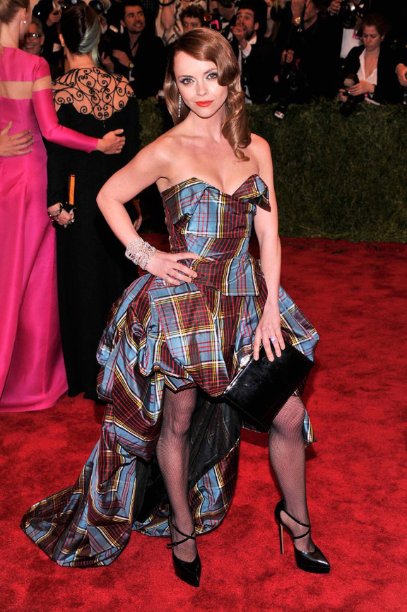 met gala, ball, red carpet, celebrities, evening wear, Christina ricci, vivienne westwood