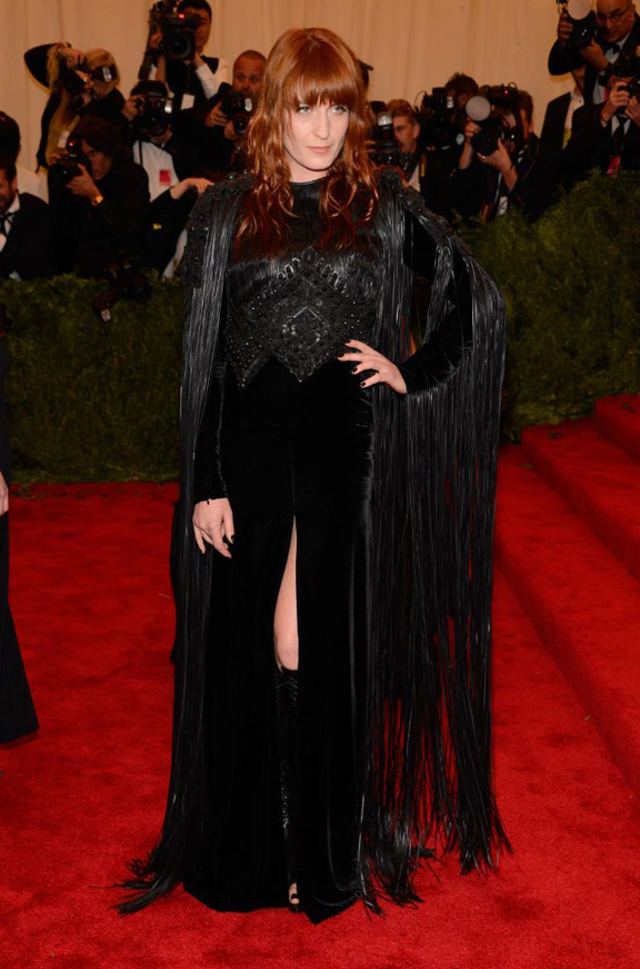 met gala, ball, red carpet, celebrities, evening wear, florence welch, givenchy