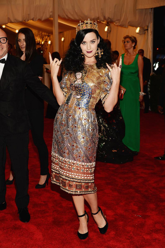 met gala, ball, red carpet, celebrities, evening wear, katy perry, dolce gabbanna